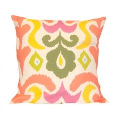 Multi-Colored Ikat Pillow