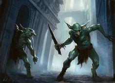 dois dos personagens - goblins