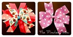 Hair Bow tutorials - with a video! Awesome!