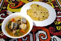 Tuna Soup with Flatbread, a simple dish for nutritious breakfast, yum..! ^^