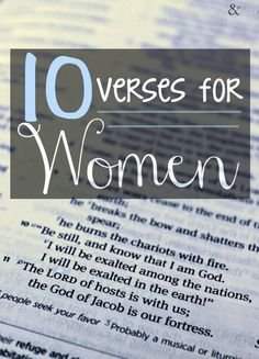 10 verses for women, for all occasions #letgoletGod #women #faith #verses #scripture