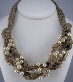 Linen with Pearls