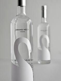 Swans neck vodka bottle label #packaging #design #swan #cigno #cigne - Carefully selected by GORGONIA www.gorgonia.it