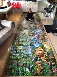Young Woman Completes World's Largest Jigsaw Puzzle: 33,600 pieces