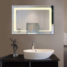 Bouton tactile de mande d éclairage de salle de bain sans