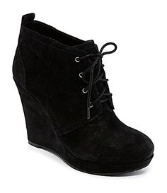 Have these in grey, so comfy and cute! Want black! Jessica Simpson Catcher Wedge Oxfords #Dillards