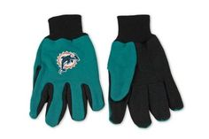 Wincraft NFL Miami Dolphins Two Tone Utility Gloves