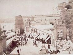 Liesse Street during the Marina gate demolition April 1884 Valletta Malta
