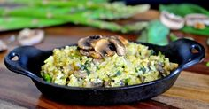 Cauliflower Rice Mushroom Asparagus Risotto
