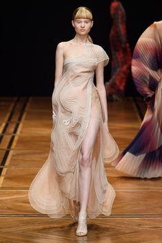 Iris van Herpen Spring 2019 Couture Fashion Show - Vogue Iris Van Herpen, Love Fashion, Runway Fashion, High Fashion, Fashion Design, Fashion Trends, Fashion Details, Fashion Fashion, Fashion Women