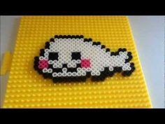 DIY perler bead mamegoma (kawaii seal) | PopScreen