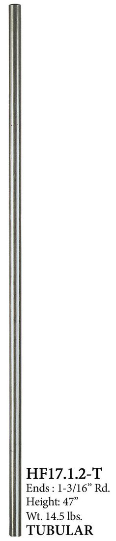 Cheap Stair Parts - 17.1.2-T Stainless Steel Newel, $69.24 (http://cheapstairparts.com/17-1-2-t-stainless-steel-newel/)