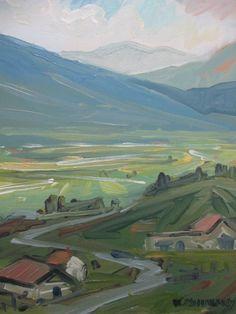 Kyle Buckland Valley Sunshine Plein Air Landscape Impressionism Oil Painting | eBay