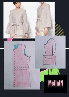 Dress Sewing Patterns, Blouse Patterns, Clothing Patterns, Blouse Designs, Sewing Collars, Sewing Sleeves, Shirt Dress Pattern, Sewing Blouses, Fashion Sewing