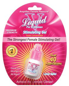 Liquid V for Women Stimulating Gel - This is amazing! All that is needed is a teardrop amount of this magic formula to the top of the clitoris...
