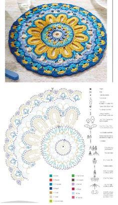 Popular Crochet Little Black Dress Tutorial - Craft & Patterns Crochet Paisley, Crochet Mandala Pattern, Crochet Motifs, Crochet Circles, Crochet Blocks, Crochet Pillow, Crochet Stitches Patterns, Crochet Diagram, Crochet Squares