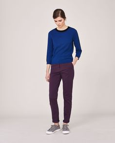 Women's Black Wool Holiday Colour Block Pullover| Toast
