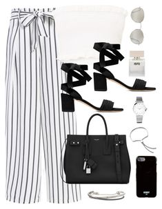"""""""Untitled #3633"""" by theaverageauburn on Polyvore featuring Bella Freud, Forever 21, Yves Saint Laurent, Larsson & Jennings, Monica Vinader, Givenchy and Roberto Marroni"""