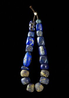 Ancient lapis lazuli beads  One of my favorite colors and stones!