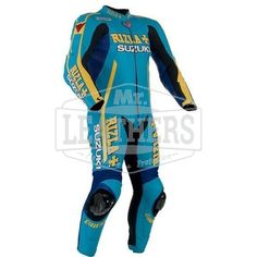 Dainese Suzuki Rizla Motorbike Race One Piece Leather Suit