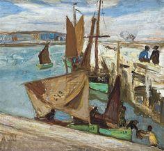 Vissershaven te Oostende - Constant Permeke - 1913