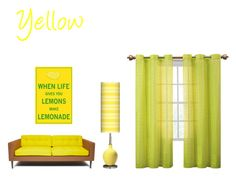 """""""Yellow"""" by lillieshade on Polyvore featuring interior, interiors, interior design, home, home decor, interior decorating and Victoria Classics"""