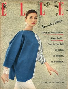 Couverture de Elle n°453 du 16 aout 1954 - photo Lionel Kazan
