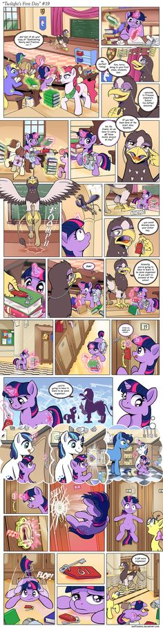 You might want to think twice about attempting to pick locks at a school of magic, Twi. At least until your lockpick skill is over anyway. Comic - Twilight's First Day Mlp Twilight, Princess Twilight Sparkle, Fluttershy, My Little Pony Comic, Mlp Fan Art, Furry Comic, Mlp Comics, Little Poney, She Wolf