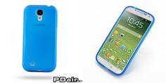 PDair Highly Transparent Soft Gel Plastic Case for Samsung Galaxy S4 SIV LTE GT-i9500 GT-i9505 (Blue)