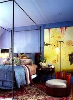 eclectic bedroom Artful, Eclectic Bedroom