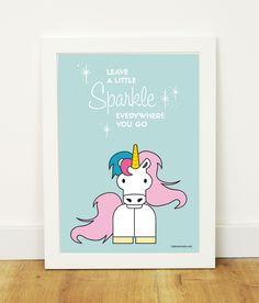 """Leave a Little Sparkle"" poster for kidsroom"