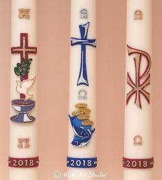 Candle Magic, Candle Wax, Pillar Candles, Santa Decorations, Candle Decorations, Wax Art, Mosaic Crosses, Silver Paint, Idee Diy