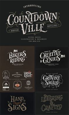 The Industrial Font Bundle — Pixel Surplus Vintage Fonts, Vintage Typography, Typography Fonts, Graphic Design Typography, Logo Design, Graphics Vintage, Vector Graphics, Vector Design, Design Design