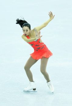 SOCHI, RUSSIA - DECEMBER 07:  Mao Asada of Japan performs in the Ladies Short Program during the Grand Prix of Figure Skating Final 2012 at the Iceberg Skating Palace on December 7, 2012 in Sochi, Russia.