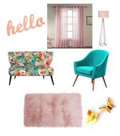 """""""Pretty Flower Child"""" by ashethamermaid on Polyvore featuring interior, interiors, interior design, home, home decor, interior decorating and JAlexander"""