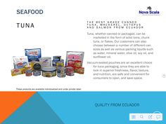 Tuna and canned fish from Ecuador.