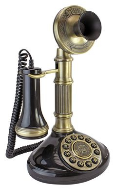 1897 Reproduction Telephone Roman Column Candlestick