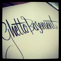 Ghetto basement - @Koen Rouwhorst Rouwhorst Overeem- #calligraphy #typography #typo #type #lettering #letters #letter #handlettered #handlettering #script #logotypo #handwriting #handwritten #handtype #equivoke #wordplay #pun #ink #fineliner #writing #sketch #pencil