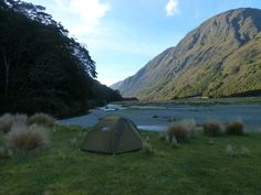 My Lonely Campsite Green Stone Track New Zealand