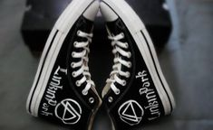 Linkin Park Converse High Top Sneakers by EmilyTamHandPainting, $85.00