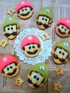 Mario and Luigi cookie