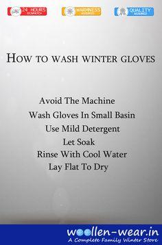 Washing Tips of Winter Gloves #Bwarm