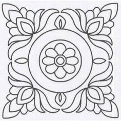 Quilt Stencil Floral Block 3 Pack 1024QC