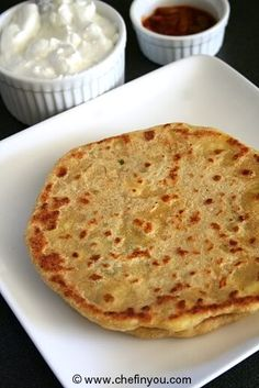 Green Garlic and Cheese Paratha | Indian Flatbread with Ricotta Cheese