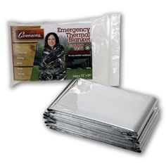 Emergency Thermal Blankets - Grizzly Gear - Folds to 52' X 84' >>> Click on the image for additional details.