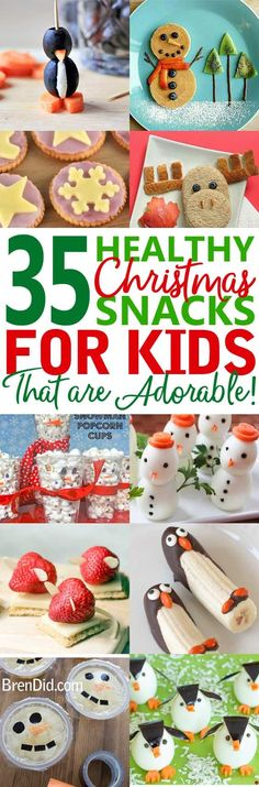 Healthy Christmas treats for kids – Cute & Healthy Christmas snacks for kids holiday parties, winter parties, and lunch box surprises. Get the easy recipes today! #healthysnacks #Christmassnacks #healthytreats