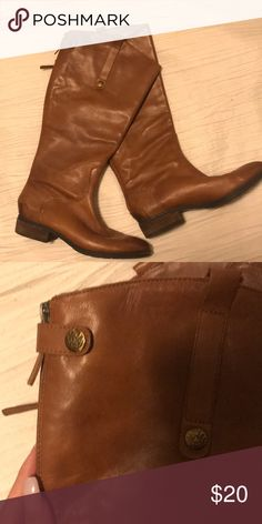 Riding boots Long brown leather riding boots Shoes Winter & Rain Boots