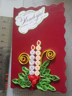 Art of quilling, Greeting cards, Paper craft, Quilled Christmas cards