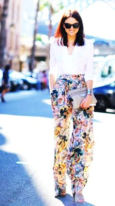 A pair of printed pants is your ticket to achieving some of this fall's must-have looks. Choose a pair made from thicker fabrics and in warmer colour ways that are better suited to the fall season.