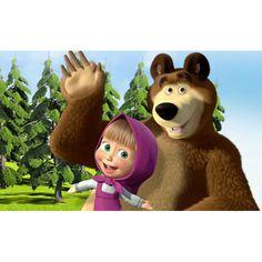 Jedlý papír na dort Máša a medvěd